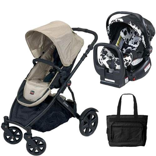 Britax U281768KIT3 B Ready Stroller And Chaperone Infant Carrier With Diaper Bag