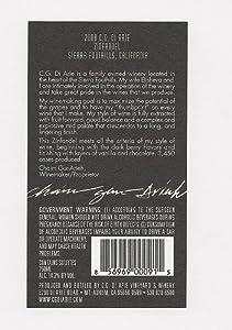2008 C.G Di Arie Broad Market Wines Zinfandel, Sierra Foothills 750mL from C.G. Di Arie