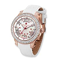 Charles Hubert Rose IP-plated Crystal Stainless Steel Automatic Watch