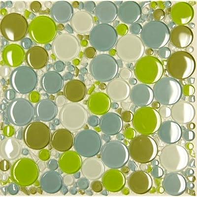 Sample - T47 Glossy Circle Glass Mosaic CM012 Tile Sample - - Amazon