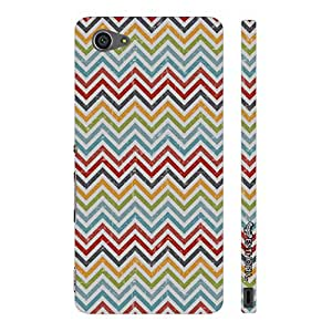 Sony Xperia Z5 Compact CHEVRON BOW designer mobile hard shell case by Enthopia