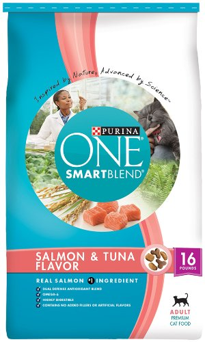 Purina One Cat Smartblend Salmon and Tuna Cat Food, 16-Pound