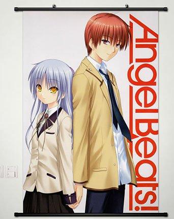 Home Decor Anime Angel Beats Cosplay Wall Scroll Poster Otonashi Yuzuru & Tachibana Kanade 23.6 X 35.4 Inches - 1093