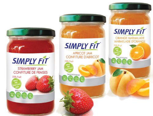 Real Fruit Jam 12 oz 3 Jar Gift Pack Orange,