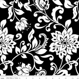 Mystique Main Black Yardage by Lila Tueller for Riley Blake Designs SKU# c3080-black