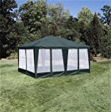Sun Mart Deluxe Screen House, Party Tent 15ftx12ft Green