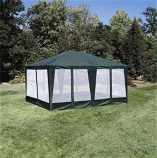 Sun Mart Deluxe Screen House Party Tent Ftx Green Deck
