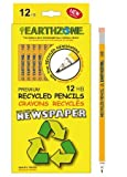 Earthzone Premium HB Recycled Pencils (12 Pack)