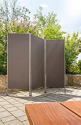 Outdoor Paravent anthrazit - praktischer Sichtschutz Sonnenschutz für draussen von CasaVivendi® auf Gartenmöbel von Du und Dein Garten