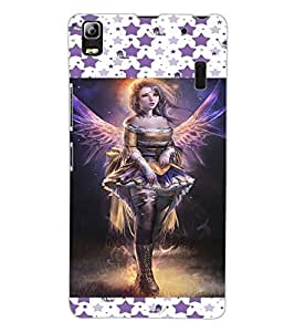 ColourCraft Lovely Angel Design Back Case Cover for LENOVO A7000