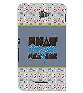PrintDhaba Quote D-4151 Back Case Cover for SONY XPERIA E4 (Multi-Coloured)