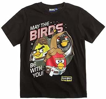 Angry Birds T-Shirt 2014 Kollektion 110 116 122 128 134 140 146 152 Shirt Kurz Jungen Sommer Neu Star Wars L2 Schwarz (134 - 140)