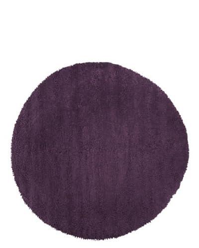 Surya Aros AROS-15 Shag Hand Woven 100% New Zealand Felted Wool Prune Purple 8' Round Area Rug