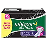 Whisper Ultra Nights - 30 Pads (XL Wings)