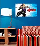 WOW INTERIORS DISNEY(OFFICIALLY LICENSED)- MARVEL AVENGERS BOW & ARROW HERO HAWKEYE IN ACTION KIDS WALL POSTER