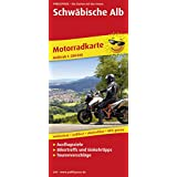 Motorradkarte Schwäbische Alb: Mit Tourenvorschlägen, Ausflugszielen, Biker- & Einkehrtipps, reissfest, wetterfest, abwischbar, GPS-genau. 1:200000
