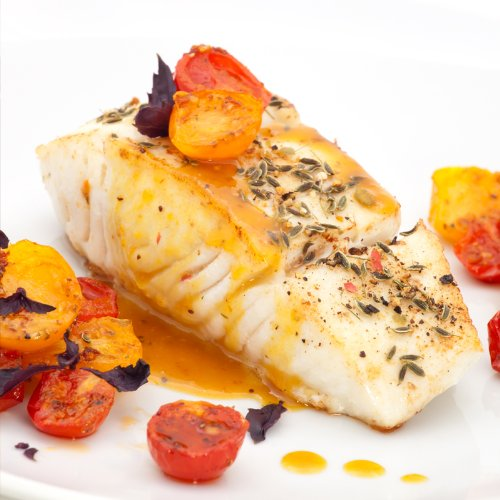 Alaska Halibut Fillet. Vacuum-sealed, boneless portions. Flash-frozen.