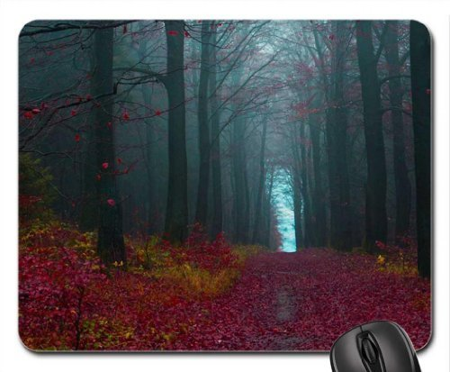 crimson forest Mouse Pad, Mousepad (Forests Mouse Pad)