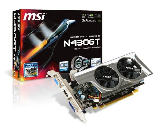 MSI nVidia GeForce GT430 OC 1GB Low profile PCI-Express Video Card