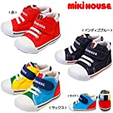 MIKIHOUSE(ミキハウス)mロゴ キャンバス セカンドシューズ(靴)(13cm-15.5cm) 13.5cm,サックス(68)