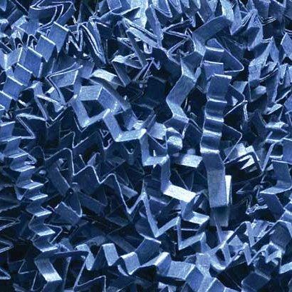 1/2 LB Crinkle Cut Paper Shred - Navy Blue - Gift Basket Filling by Uline