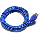 3M Strong Braided 8 Pin USB Sync & Charge Cable for Iphone 5, 5S, 5C,Ipad Mini Itouch(blue)
