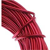 Aluminum Craft Wire 12 Gauge 39 Feet RED 42612 by Minor Details