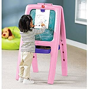 Step2 Easel For Two with Bonus Magnetic Letters/Numbers (2, Pink)