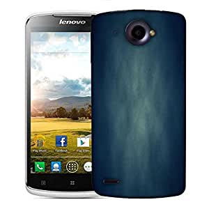 Snoogg Blue Grunge Texture Abstract Designer Protective Phone Back Case Cover For Lenovo S920