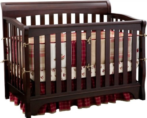 Delta Children's Products Eclipse 4-in-1 Convertible Crib – Black Cherry (Dark Cherry)