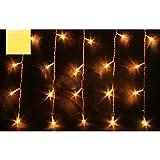 Bingsale 120er LED Lichterkette Eiszapfen Eisregen Weihnachtsbeleuchtung Weihnachtsdeko 4Mx0.6M (warmweiß)