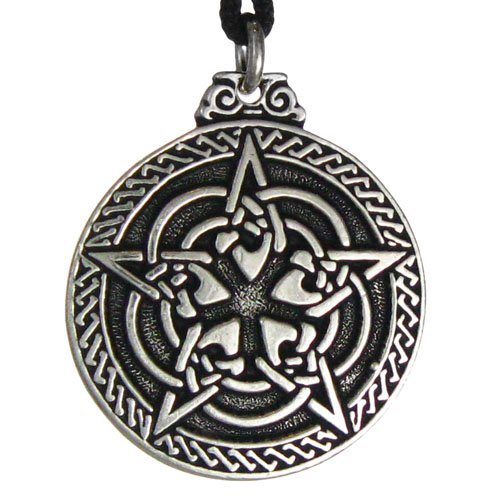 Celtic Knot Pentacle for Protection Wiccan Necklace Jewelry Pagan Irish Pendant