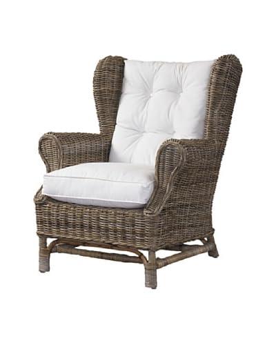 Padma's Plantation Wing Chair, Kubu Grey As You See