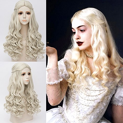 Skylynn--film Alice in Wonderland The White Queen Costumi e travestimenti cosplay parrucca