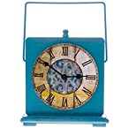 Blue Wooden Clock w/ Handle