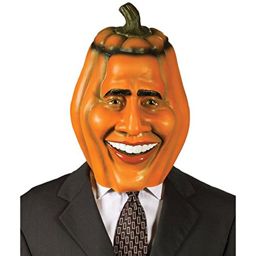Adult Obama Pumpkin Head Halloween Costume Mask