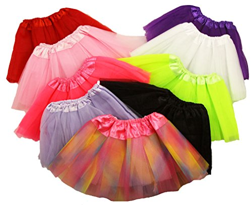 "Baby Ballet Tutu Assortment - 9 Total Tutus Included - 7"" Long - 0-24 Months"