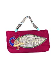 Arisha Kreation Co Women Hand Made Hand Bag Purse (Dark Pink)
