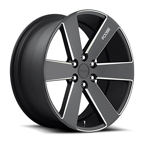 Foose F158 Switch 22x9.5 6x139.7 +30mm Black/Milled Wheel Rim (22 Inch Rims 6 Lug compare prices)