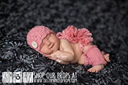 Blossom Pink Newborn Girl Chunky Double Pom Pom Hat Photography Prop, Baby Props, Newborn Prop, Photo Props, Handmade Hat, Pink, Girls