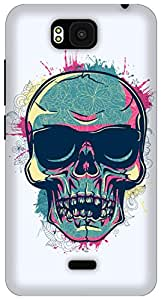 The Racoon Lean Tripster Skull hard plastic printed back case/cover for Huawei Honor Bee