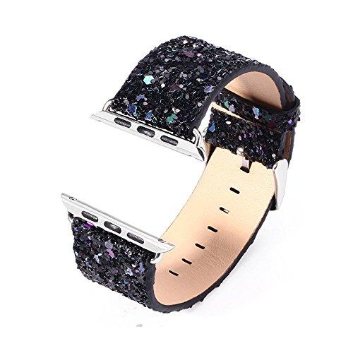 Paillettes Fascia per Apple Watch 38mm 42mm Cinturino di ricambio lampeggiante design iWatch Bands