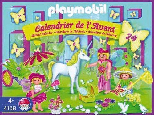 Jouet : Playmobil - PLL4158 - Jeu de construction - Brique - Calendrier Avent - Licorne Au Pays Fée