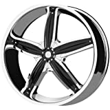 """Helo HE844 Triple Chrome Plated Wheel With Gloss Black Accents (18x8""""/5x108, 114.3mm, +40mm offset)"""