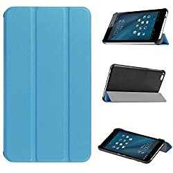 HuaWei MediaPad T1 9.6 Case, Pasonomi Ultra-Slim and Ultra-light PU Leather Folio Case Stand Cover With Smart Cover Auto Wake / Sleep Feature for Huawei MediaPad T1 9.6 inch tablet (Slim Series Light Blue)