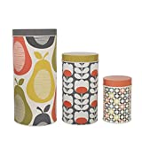 Orla Kiely Tins/Canisters - Set of 3 Canisters - Multi Pattern