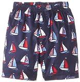 JoJo Maman Bebe Baby-Boys Newborn Swim Shorts, Boat, 6-12 Months