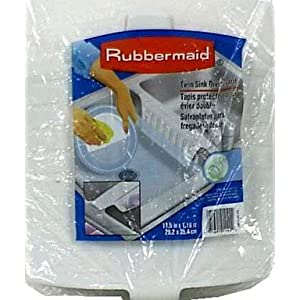 White kitchen sink rubbermaid white twin sink divider mat - Rubbermaid kitchen sink divider mats ...