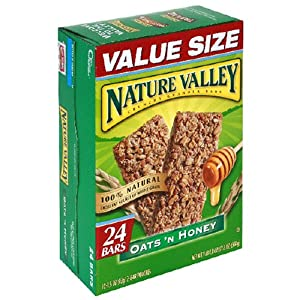Nature Valley Crunchy Granola Bars, Oats 'n Honey, 24-Count Boxes (Pack of 6)