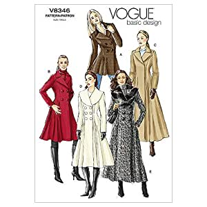 Vogue Patterns V8346 Misses' Coat, Size D (12-14-16)